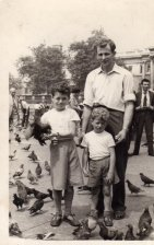 Dad with Brothers Clive and David