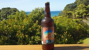 Ballast Point Sculpin IPA Bottle with a view