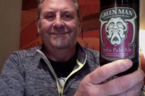 Man needing shave shares beer picture