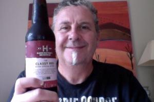 Classy beer, not so classy drinker